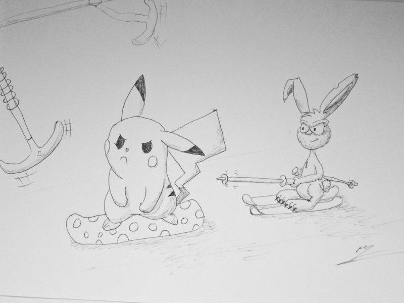 How do you get Pikachu onto a t-bar? Myoko Kogen Snow report