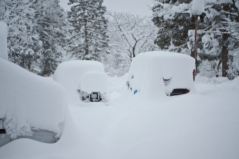 The Myoko Snowsports car park this morning