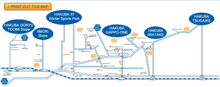 Free shuttle bus map