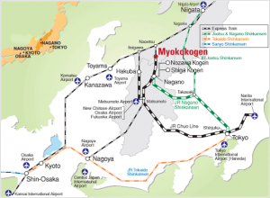 Osaka and Kyoto to Nagano Access