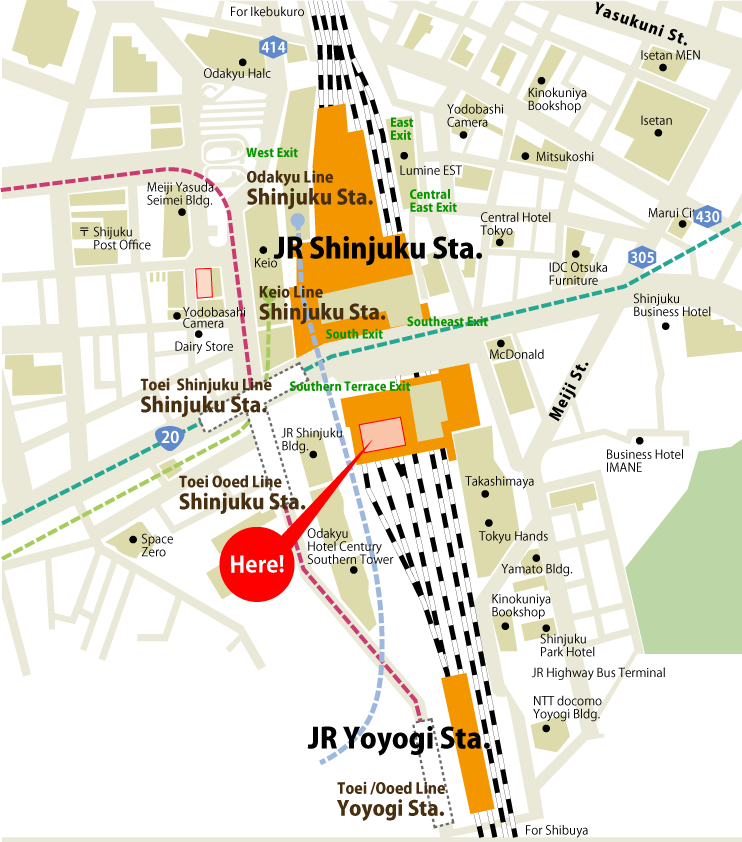 Shinjuku Station and Bus Terminal - Tokyo to Nagano bus