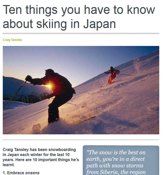 Ten things you have to know about skiing in Japan - Myoko Nagano