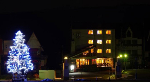 silverhorn-hotel-myoko-night