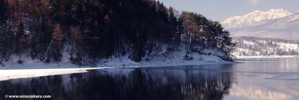 lake nojiri winter