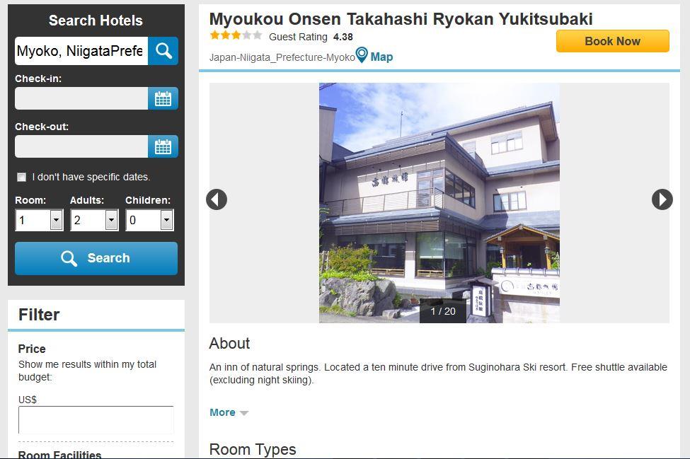 Takahashi Ryokan in Myoko Onsen