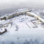 New piste map for Lotte Arai Ski Resort. Arai trail map.