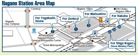nagano station map, nagano resort pass