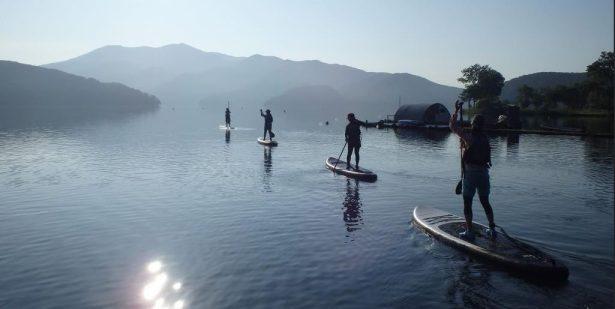 Summer paddling at Lake Nojiri, Japan